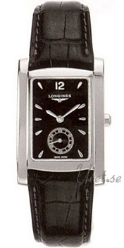 Longines DolceVita Black Dial Leather Strap Black