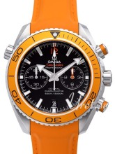 Omega Seamaster Planet Ocean Chrono Sort/Gummi Ø45.5 mm