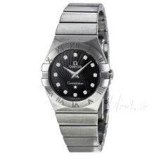 Omega Constellation Brushed 27 mm Steel Black Dial