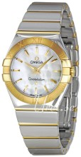 Omega Constellation Polished 27 mm Yellow Gold Steel MOP Dial