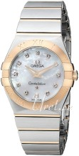 Omega Constellation Brushed 27 mm Rose Gold Steel MOP Dial