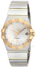 Omega Constellation Quartz 35 mm Champagnefarget/18 karat gult g