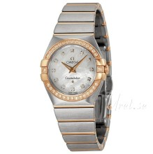 Omega Constellation Brushed 27 mm Rose Gold Steel Brown Dial