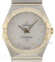 Omega Constellation Brushed 27 mm Yellow Gold Steel MOP Dial