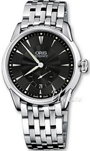 Oris Culture Artelier Small Second Date Sort/Stål Ø40 mm