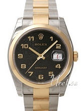 Rolex Datejust Black Dial Yellow Gold / Steel Oyster Bracelet