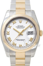 Rolex Datejust White Dial Yellow Gold / Steel Oyster Bracelet