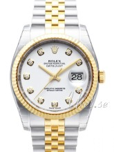 Rolex Datejust White Dial Yellow Gold / Steel Jubilee Bracelet D